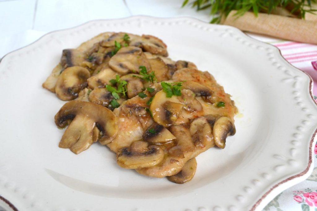 Scaloppine ai funghi